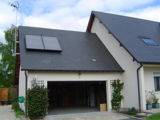 Installation de panneaux solaires (Chantier à Vesly)