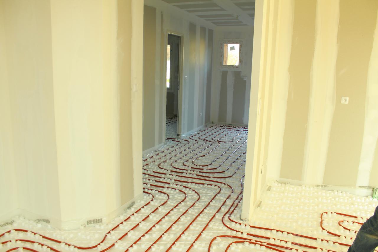 Installation d'un plancher chauffant