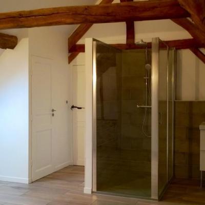 Création de wc et douche / meuble lavabo (Chantier authevernes)
